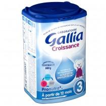 【含运费】法国达能Gallia奶粉标准3段(12个月以上)800g 6罐 厚箱装 超强保护