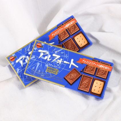 日本BOURBON布尔本帆船夹心香浓小麦牛奶巧克力饼干59g