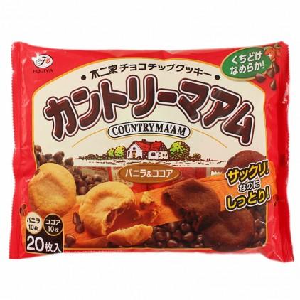日本不二家香草+可可巧克力软曲奇200g 20枚入
