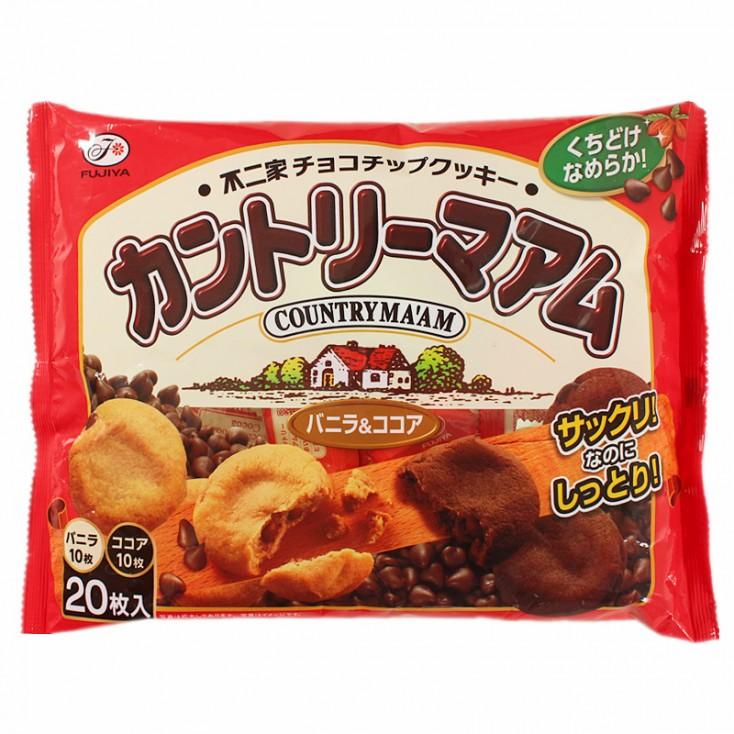 日本不二家香草+可可曲奇 内含巧克力豆饼干200g
