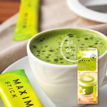 日本AGF MAXIM 宇治抹茶拿铁速溶奶茶粉 单条试吃装