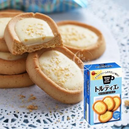 日本bourbon布尔本波路梦坚果曲奇白奶油蛋挞饼干 杏仁挞