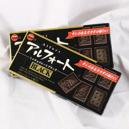 日本BOURBON布尔本帆船夹心香浓小麦黑巧克力饼干