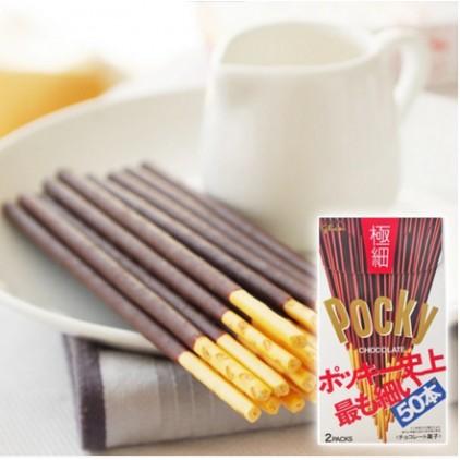 日本固力果Glico格力高 Pocky百奇 极细50根 巧克力饼干棒