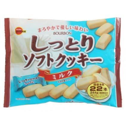日本布尔本Bourbon特浓牛奶面包饼干条22枚244g