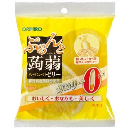 日本orihiro魔芋果冻蒟蒻果冻橘子味 低卡高纤 6个