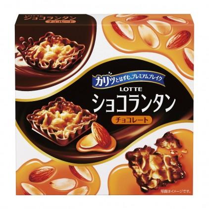 日本乐天LOTTE弗劳兰丁杏仁片焦糖巧克力8枚