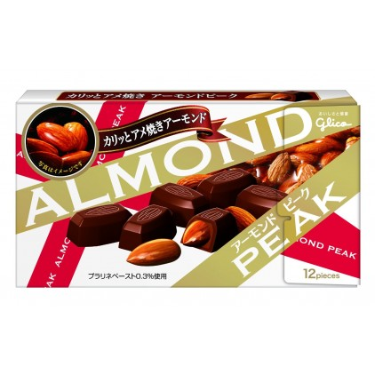 日本固力果glico Almond Peak坚果杏仁夹心牛奶巧克力朱古力经典