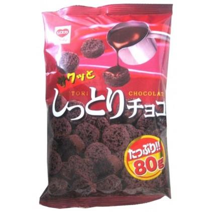 日本リスカ超浓巧克力膨化面包干80g入口脆脆哒