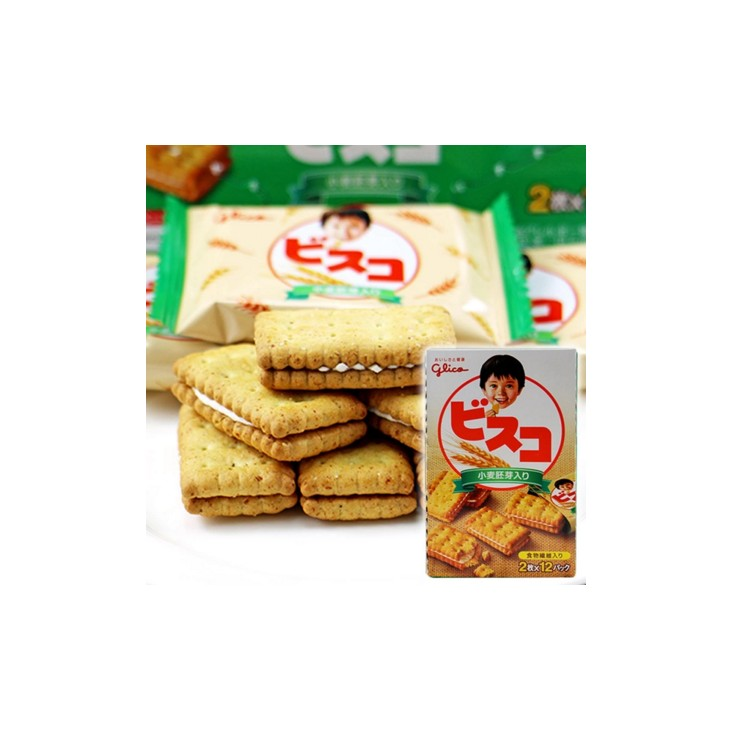 日本glico固力果乳酸菌小麦胚芽 含乳酸菌有益肠道24枚超值装