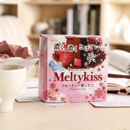日本本土冬季限定Meiji 明治 Meltykiss 雪吻特级夹心巧克力 情人节必选 三种口味混合150g