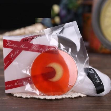 日本Penelopi Moon Junoa和汉方月光皂30g 面膜洁面皂 红色基础款 附起泡网 小蛮推荐