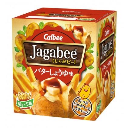 日本薯条三兄弟Calbee 卡乐B 盒装薯条 经典 黄油酱油味 90g 超好吃!