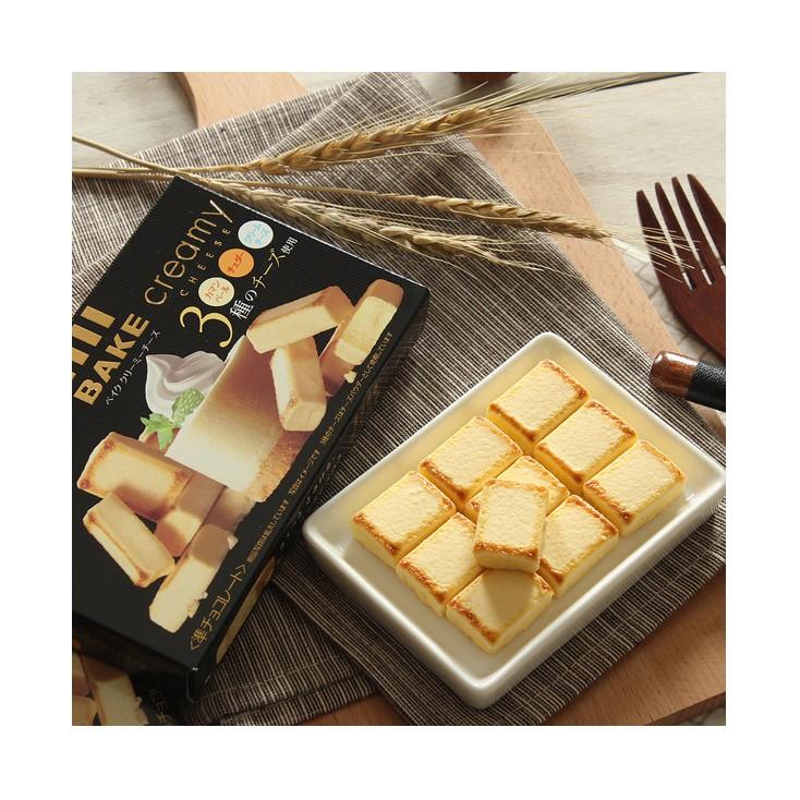 日本森永BAKE CREAMY烘烤浓厚芝士奶油夹心巧克力10粒