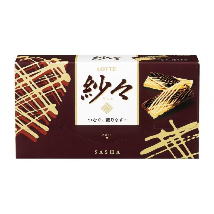 日本乐天Lotte 纱织交织烘焙牛奶巧克力69g约14小片