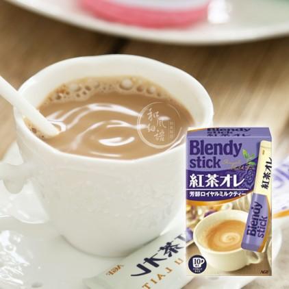 日本AGF Blendy红茶欧蕾皇家牛奶奶茶粉 10本入