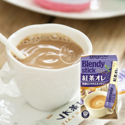 日本AGF Blendy红茶欧蕾皇家牛奶奶茶粉 10本入