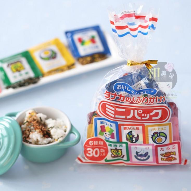 日本田中拌饭料 海苔三文鱼等6口味 30包米饭调味品
