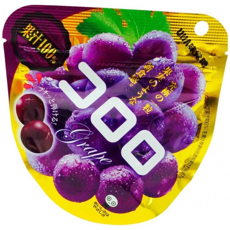 日本零食UHA悠哈味觉糖 100%果汁软糖 40g 冰一下更好吃!