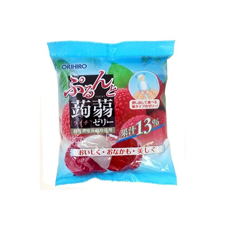 日本orihiro魔芋果冻蒟蒻果冻桃子味 低卡高纤 6个