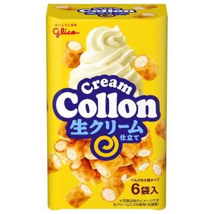 日本零食 格力高 固力果glice COLLON冰激凌香草奶油蛋糕夹心卷6袋入 香草奶油蛋卷