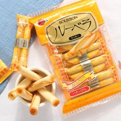 日本零食布尔本BOURBON小麦鸡蛋卷 蛋卷 12入