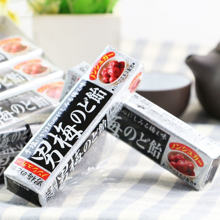 日本零食诺贝尔话梅新货 NOBEL男梅 润喉糖42g 10粒入