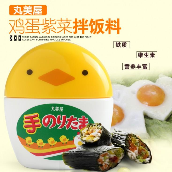 """""""爸爸去哪儿""""力荐 日本丸美屋可爱的鸡蛋海苔拌饭料 易携带"""