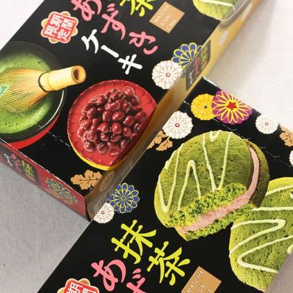 日本糕点零食森永洋果子红豆抹茶蛋糕 三层派铜锣烧6枚 限量版