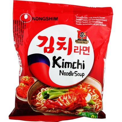 """""""爸爸去哪里""""力荐! 韩国农心KimChi泡菜拉面 / Nongshim Soupe de nouilles à saveur du KimChi 120g"""