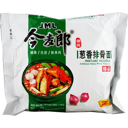 今麦郎珍品 葱香排骨面 / JinMaiLang Soupe de nouilles à saveur de travers de porc 113g