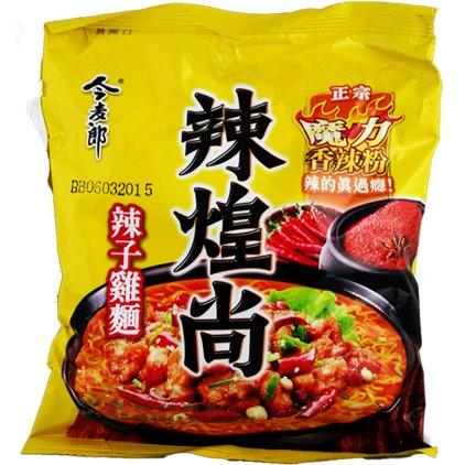 今麦郎辣煌尚辣子鸡面/JinMaiLang Soupe de nouilles à saveur de poulet épicé 114g
