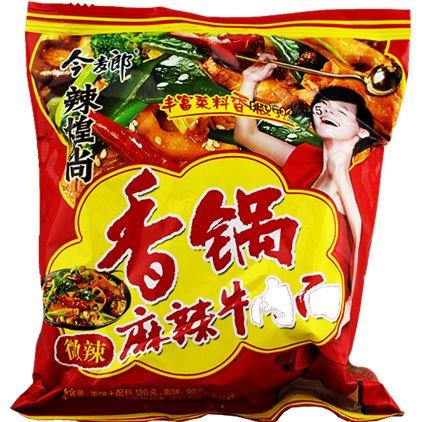今麦郎辣煌尚香锅麻辣牛肉面 /JinMaiLang Soupe de nouilles hot-pot à saveur de beuf épicé 120g