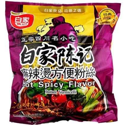 白家方便粉丝-麻辣烫 / Baijia VERMICELLE à saveur d'épicé fort 105g