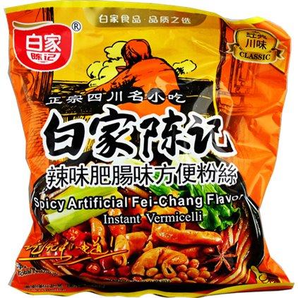 白家经典辣味肥肠粉丝 / Baijia VERMICELLE à saveur d'épicé-Feichang 108g