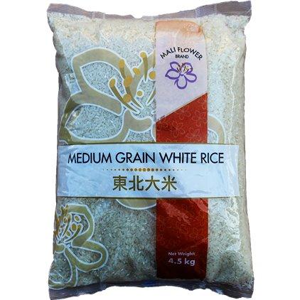 美丽花 东北大米/ MALI FLOWER Riz blanc à grains moyens 4.5kg