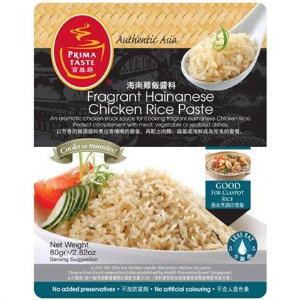 百胜厨 新加坡 上等海南鸡饭酱料 拌饭酱 / PrimaTaste Fragrant Hainan pâte de riz au poulet 80g