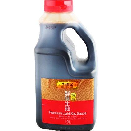 李锦记 家庭实惠装特级鲜味生抽酱油/LeeKumKee Premium Light Soy Sauce de soja1.9L