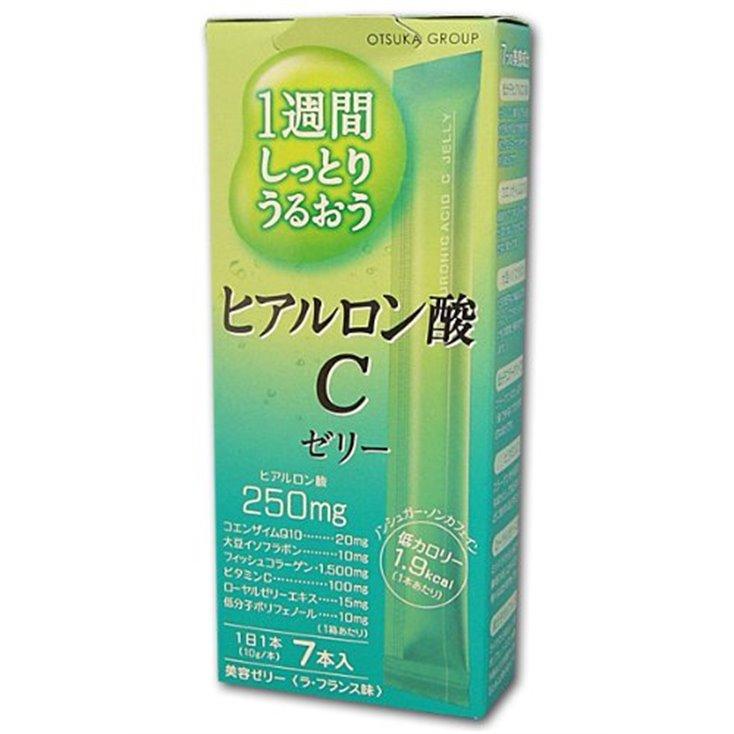 日本限定毎日の美容 大塚肌C Placenta C Jelly 胎盘素精华啫喱 玻尿酸胶原蛋白果冻 7本入