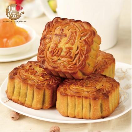 澳门十月初五饼家 双黄白莲蓉月饼 (单个装) 188g