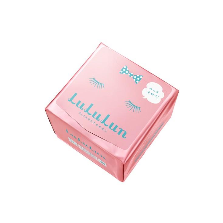 日本Lululun (ルルルンフェイス mask) 补水滋润保湿面膜42片(粉色) cosme受赏 松本惠奈推荐