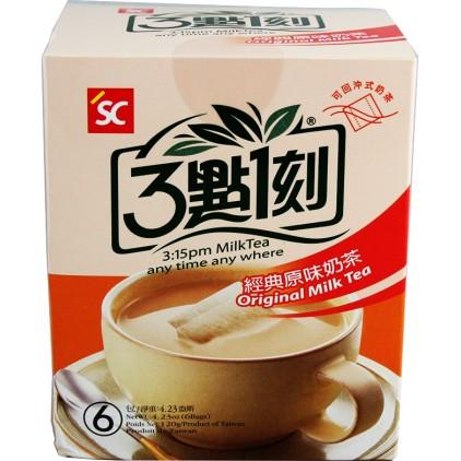 台湾原产 3点1刻 经典原味奶茶6包入 120g (20g*6)