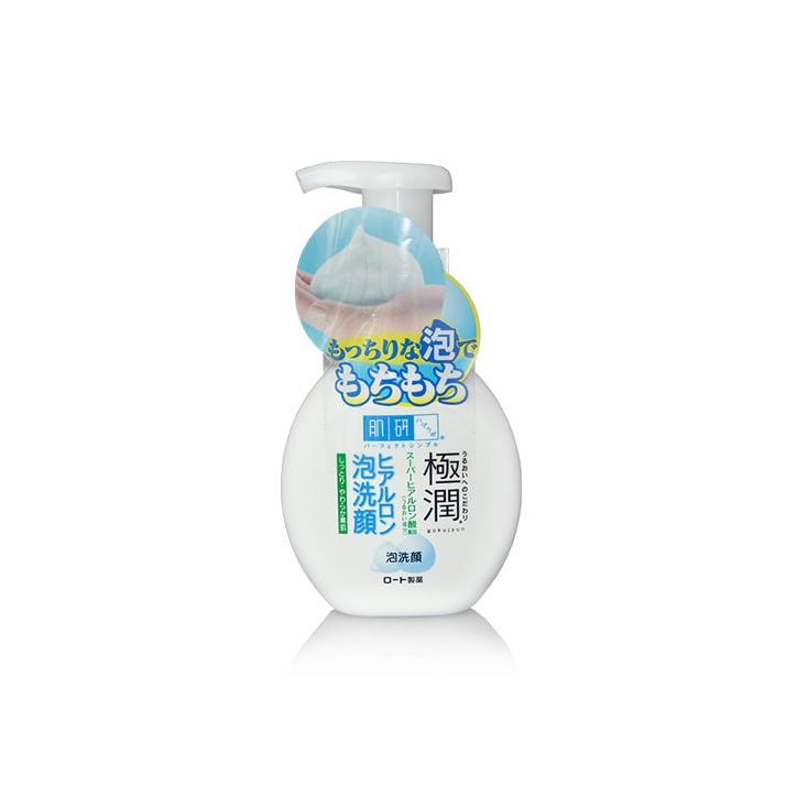 日本原装 ROHTO乐敦肌研极润 保湿泡沫洗面奶/洁面乳160ml 温和质地抗敏感