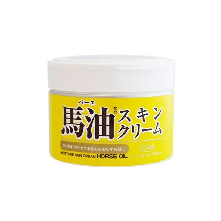 日本北海道柔兰Cosmetex Roland LOSHI 天然滋润马油幼滑乳霜 220g