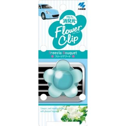 日本小林制药花朵形状车用香水 /车用空气清新剂 4.2ml 湖蓝色