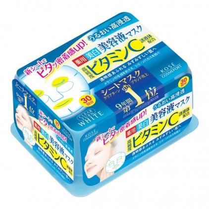 日本新版高丝KOSE薏仁深层白皙面膜贴 抽取式面膜-30回 深层美白保湿