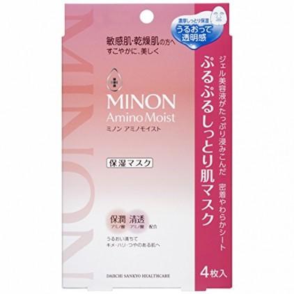 日本MINON氨基酸保湿面膜敏感干燥肌4枚装 (15年最新)COSME大奖第一