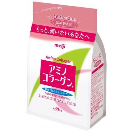 日本Meiji明治替换装氨基胶原蛋白214g-日本美容大奖第一