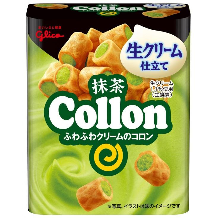 日本零食 格力高 固力果glice COLLON抹茶奶油蛋糕卷56g 抹茶蛋卷