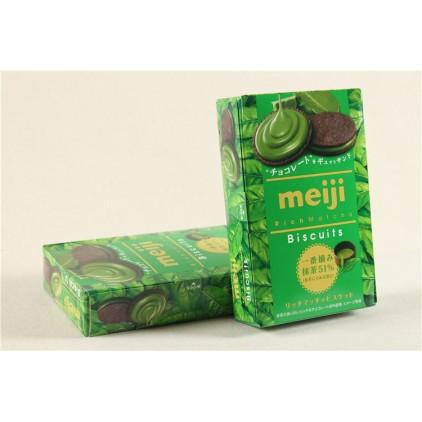 日本明治Meiji株式会社 51%特浓抹茶巧克力夹心饼干